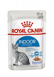 Royal Canin Indor Sterilised влажный корм для домашних кошек, в желе 85 г
